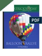 2012 St. Patrick's Day Balloon Rallye Program