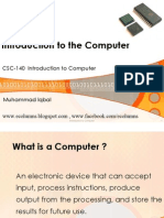 Introduction to Computer 1