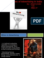 Ethics and Laws in Advertising in India