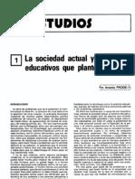 Exoe-h09 La Sociedad Actual y Los Problemas Educativos Que Plantea