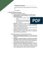 PMBOK RESUMEN CAP 4 - ADMINISTRACIÓN DE LA INTEGRACIÓN DEL PROYECTO