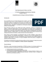 Lineamientos Para Entrega de Informes E27-2011