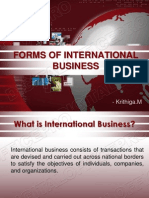 Forms of International Business