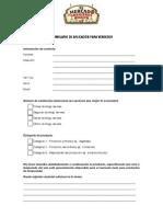 Formulario de aplicación - Mercado de Granjeros