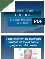 SEMIOLOGÍA TIROIDEA