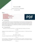 factorizacion LU Lectura 1