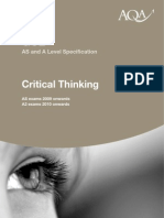 Critical Thinking Specification