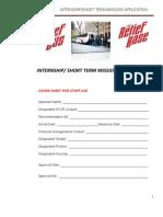 Short Term Missions App 2012 PDF