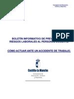 PROTOCOLO DE ACTUACIÓN ANTE UN ACCIDENTE EN UN CENTRO DOCENTE