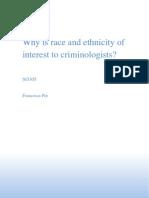 Criminology Race Ethnicity Essay