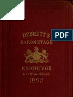 Debrett's Peerage 1893