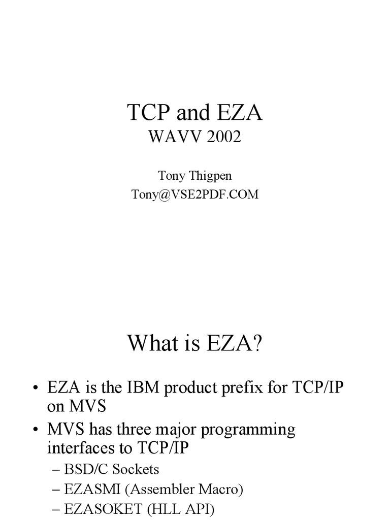 Ibm Rexx Manuals Generator Circuit Breaker Md151 19 Amp Array Tcp Eza 2002eza Network Socket Port Computer Networking Rh Scribd