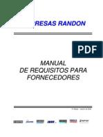 Manual de Requisitos Para Fornecedores - 5 Edicao