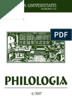 Studia UBB Philologia Nr. 4 Din 2007 - Mircea Eliade