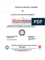 44586029 Summer Training Report at Sharekhan Ltd
