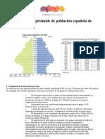 Comentario de la pirámide de población española de 2007