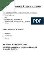 CURSOS CONSTRUÇÃO CIVIL