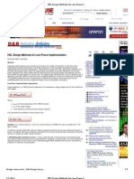 HDL Design Methods for Low-Power Implementation