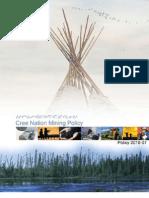 Cree Nation Mining Policy