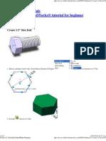 Create 1_2″ Hex Bolt _ SolidWorks Tutorials