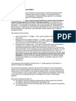 Grant Proposal Assignment 2012