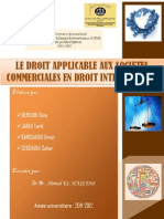 7- Le Droit Applicable Aux Societes Commerciales en Droit International