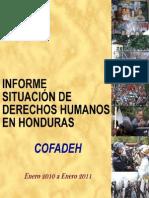COFADEH Informe January 2010 to January 2011