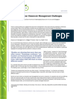 Solving your Classroom Management Challenges