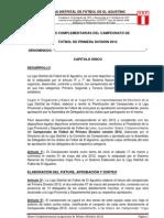 Bases Complement Arias Primera 2012
