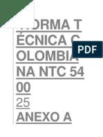 NORMA NTC 5400