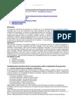 Evaluacion Economica Proyectos Inversion