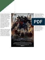 Transformers Poster Analysis