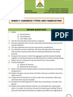Sheet1 - Ceramics Types & Fabrication