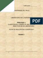 Practica No. 1 Lab. Quimica Inorganic A