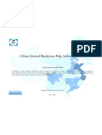 China Animal Medicines Mfg. Industry Profile Cic2750