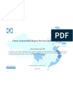 China Automobile Repair Services Industry Profile Cic3726