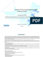 China Broadcasting Tv Receiving Equipment Mfg. Industry Profile Cic4032