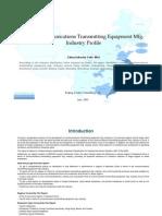 China Communications Transmitting Equipment Mfg. Industry Profile Cic4011