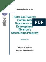 AmeriCorps audit involving FLDS 'Lost Boys' shelter