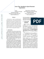 Daniel Lemire, Martin Brooks, and Yuhong Yan, An Optimal Linear Time Algorithm for Quasi-Monotonic Segmentation, IEEE Data Mining (ICDM-05), pp. 709-712, November 2005.