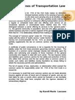 Transpo Doctrine + Notes