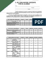 Ficha de Evaluacion Docente Al Alumno