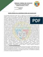 RESEÑA HISTORICA DE LA UNIVERSIDAD CENTRAL DEL ECUADOR