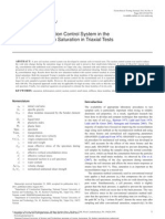 Application of a Suction Control System in the Method of Specimen Saturation in Triaxial Tests