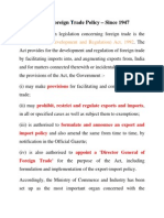 Indian Foreign Trade Policy