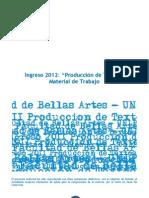 PRODUCCIÓN DE TEXTOS_INGRESO2012_CUADERNILLO