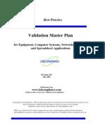 Sample m 171 Validation Master Plan