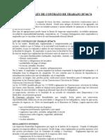 Marco Legal Ley de Contrato de Trabajo 20744