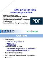 GaN HEMT on Si for High Power Applications (2011.12.26) Chia-Hua Chang NCTU