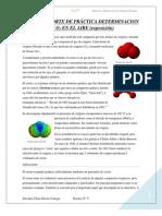 QUINTO REPORTE DE PRÁCTICA DETERMINACION DE O3 EN EL AIRE